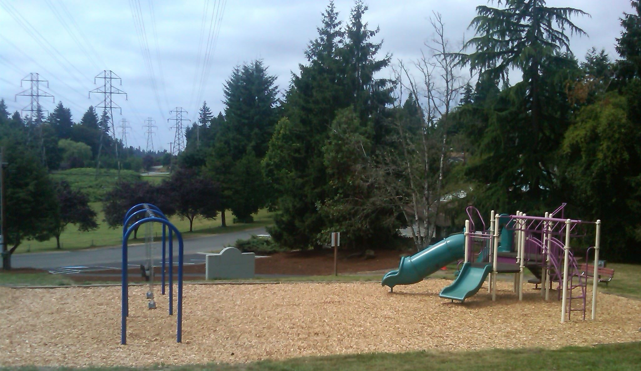 Outdoor play equipment at Terrace Ridge
