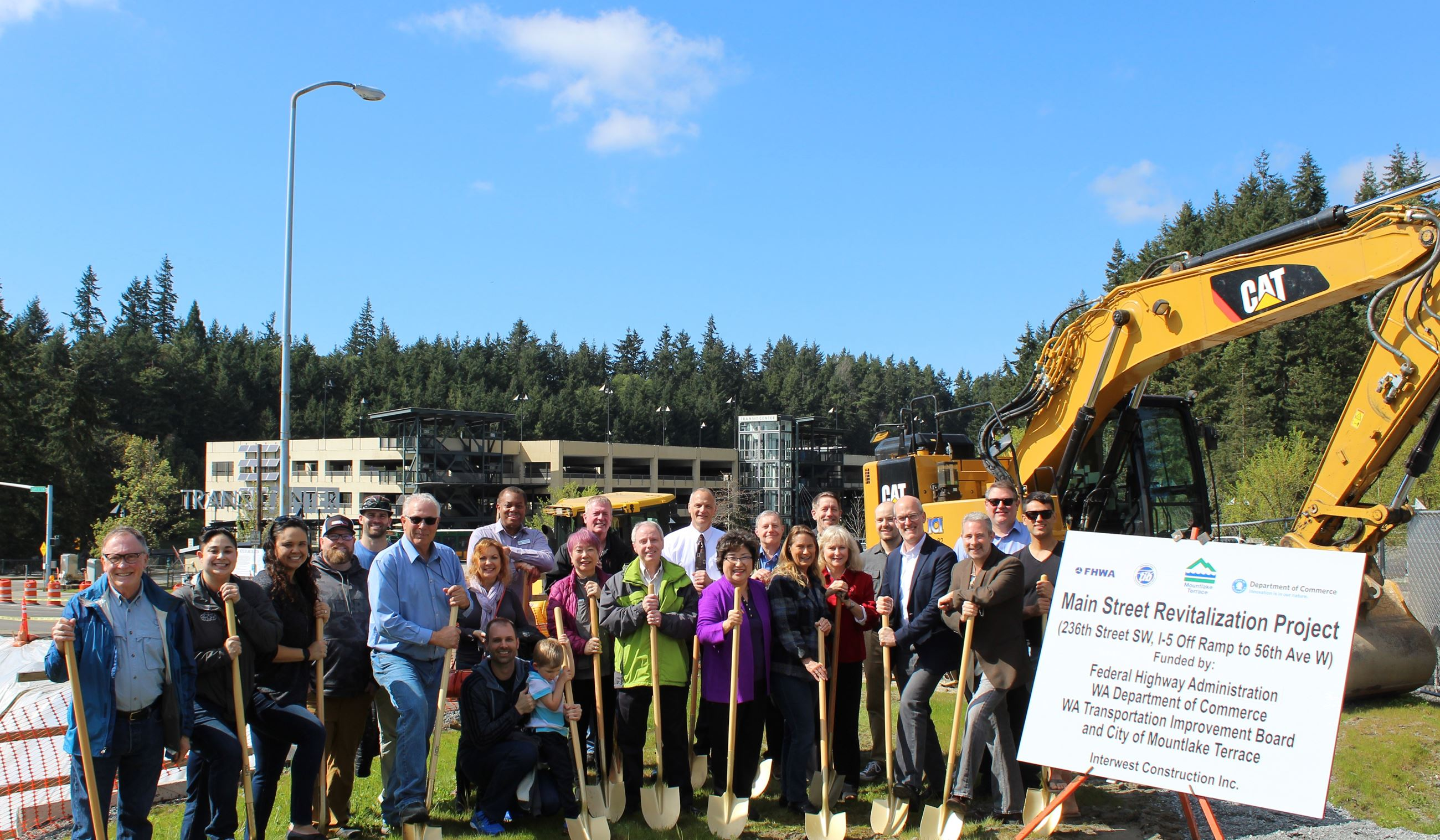 Main Street Project Ground Breaking Ceremony Group Photo