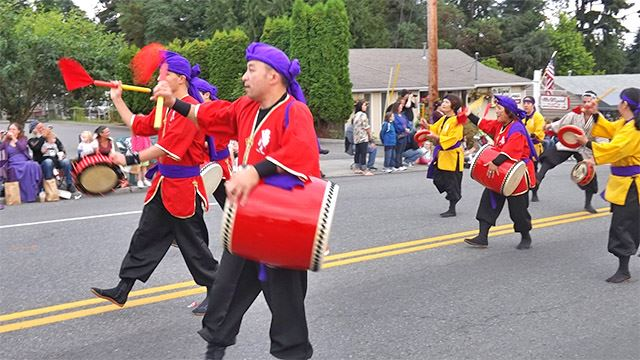 Drummers in the parade.